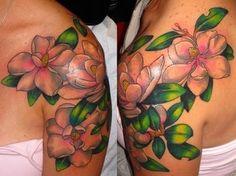 Beautiful Magnolia tattoo art