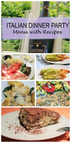 Italian Dinner Party Menu with Recipes www.compassandfork.com