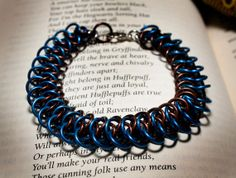 Hogwarts Collection  Arkham Chainmaille Bracelet  Ravenclaw by HowlOwl on Etsy. Harry Potter