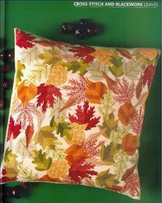 1 of 5  Cross stitch & Blackwork autumn leaves. Blackwork-schemes (p. 8) | Learning Crafts is facilisimo.com