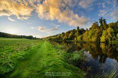 Sunset along the River Boyne at Slane