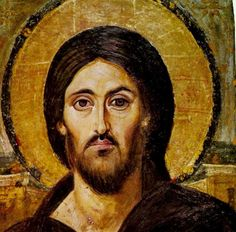 Encaustic painting on Wood. Catherine's Monastery, Sinai, gift of the Emperor Justinian and the oldest preserved icon of Christ Pantocrator, as well as the oldest known panel icon. Christ Pantocrator, Byzantine Icons, Byzantine Art, Religious Icons, Religious Art, Catholic Art, Images Of Christ, Old Images, Orthodox Icons