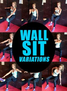 Summer Slim-Down Challenge Week 5 - Wall Sit Variations