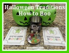 Hands down one of our favorite Halloween family activities ~ so much fun with a hint of mischief too =)  Halloween Traditions and How to Boo | gomominc.com