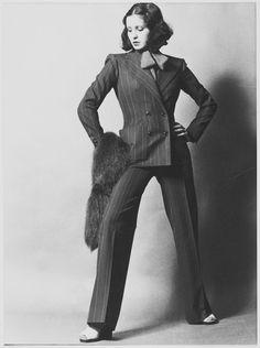 Yves Saint Laurent S/S 1971 'scandalous collection' comes to the Fondation Pierre Bergé. 70s Fashion, Fashion History, Fashion News, Vintage Fashion, Vintage Ysl, Yves Saint Laurent, Saint Yves, Moda Retro, Paris Mode