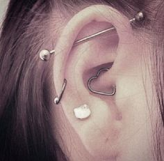 Silver Industrial Piercing Jewelry 14G at MyBodiArt as seen on Kylie Jenner
