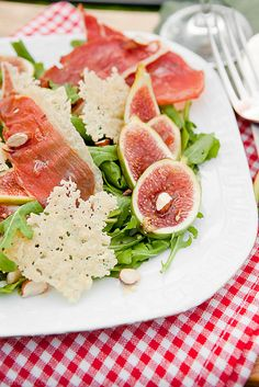 Fig, Parmesan and Prosciutto Salad.