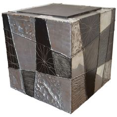 Paul Evans Argente Cube Table with Slate Top, ca.1974 | From a unique collection of antique and modern tables at http://www.1stdibs.com/furniture/tables/tables/