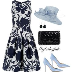 Kentucky Derby Look For Amber Steele by stylesbypdc on Polyvore featuring moda, Oscar de la Renta, Salvatore Ferragamo, Chanel, Ippolita and Untold
