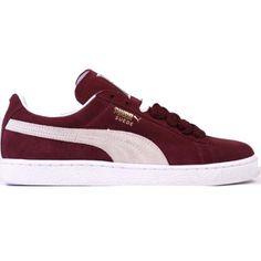 Puma Suede Classic Plus Shoes (Cabernet/White) $46.95