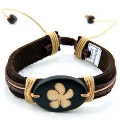 Trendy Celeb Genuine Leather Bracelet - Plumeria JewelryVolt. $4.50