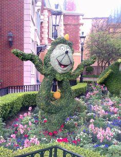 Epcot's Flower & Garden Show 2012 at Walt Disney World Resort. Beauty and the Beast