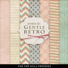 New Freebies Kit of Paper - Gentle Retro:Far Far Hill - Free database of digital illustrations and papers