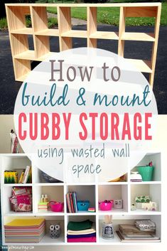 How do I build DIY Cubby shelves that assemble? Simple DIY storage tutorialHow do I build DIY Cubby shelves that assemble? Simple DIY storage Relaxing ideas for garage storage - ZYHOMYStylish 49 Relaxing Diy Wood Storage Shelves, Cubby Storage, Built In Shelves, Easy Shelves, Build Shelves, Diy Storage Closet, Daycare Storage, Diy Shelving, Diy Wall Shelves