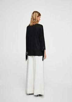 Geknoopte blouse   MANGO