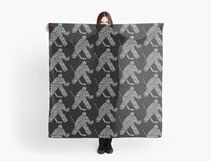 """""""Ice Hockey Goalie Calligram"""" Scarves by gamefacegear 