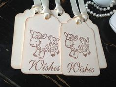 Lamb wish tags-Lamb baby shower-Lamb gift tags and favors-set of 12 on Etsy, $9.00