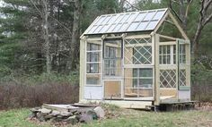 DIY with Windows:  Repurpose a bunch of windows into a backyard shed.