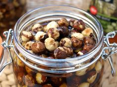 Honeyed Hazelnuts!  Can make 'em in time for Christmas.