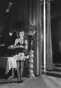Cigarette Girl, Ciro's, Los Angeles, 1940 - yet another place for movie stars to hang out and be seen.