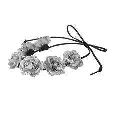 Silver Glitter Flower Crown