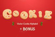 Gingerbread cookies alphabet by Krol on @creativework247