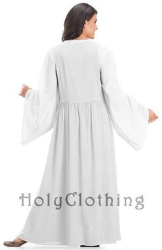 Shop Bronwyn Dress w/ Overdress in White Ivory: http://holyclothing.com/index.php/bronwyn-long-renaissance-overdress-with-cotton-chemise.html #holyclothing #renaissance #renfest #overdress #chemise #dress #romantic #love #fashion #musthave