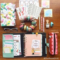 theresetgirl: My faith planner and faith journal, plus all the tools for decorating. I'm in heaven.