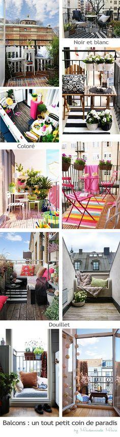 My wonderwall by Mademoiselle Marie - cute balconies / de charmants balcons