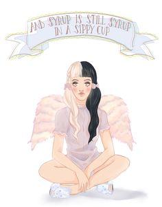 Sippy cup by Melanie Martinez Melanie Martinez Quotes, Melanie Martinez Anime, Melanie Martinez Drawings, Cry Baby, Mealine Martinez, Fanart, Music Artists, Art Drawings, Aurora Sleeping Beauty