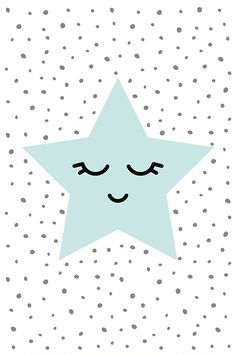 Mint nursery decor Little star Star poster Nursery wall art Sweet dreams Baby shower printable art Star print