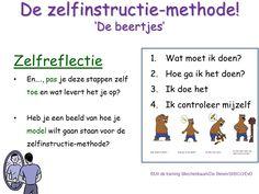 Zelfreflectie tbv de Meichenbaum Beren methode. Uit de training Meichenbaum/De Beren/StiBCO/EvD