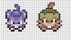 Mini Pokemon by Hama-Girl on DeviantArt Pixel Art Templates, Perler Bead Templates, Perler Patterns, Bead Patterns, Hama Beads Pokemon, Pearler Beads, Perler Coasters, Friendship Bracelets Designs, Bracelet Designs