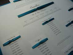 Ivory and Teal Wedding Table Plan