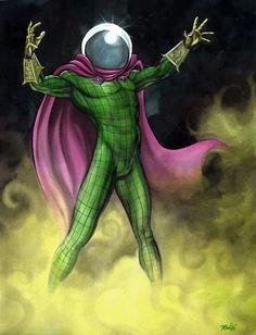 Mysterio Superhero Villains, Marvel Villains, Marvel Heroes, Marvel Characters, Stan Lee, Marvel Comics, Lego Marvel, Mysterio Marvel, Giant Monster Movies