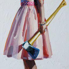 pinturas de mujeres con herramientas