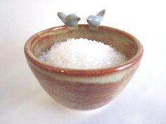 Love birds  ring home decor kitchen storage von DarriellesClayArt, $28.00