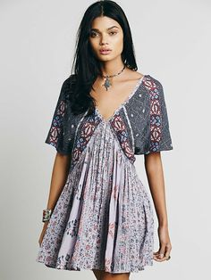 Free People Wild World mini dress