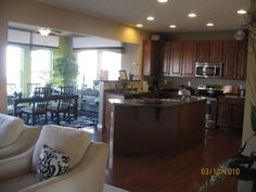 Ryan homes cherry bordeaux cabinets and santa cecilia for Kitchen morning room designs