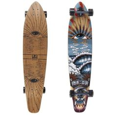 Globe Eyestorm Complete Longboard Multi/Smoke (€150) ❤ liked on Polyvore featuring fillers, skate, accessories, skateboard and extras