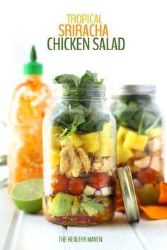 Tropical Sriracha Chicken Salad - The Healthy Maven