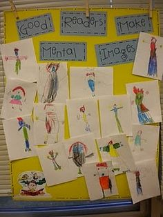 This strategy helps build comprehension skills by having students listen to details in a story or poem and then draw what they hear. Having a classroom wide discussion about their drawings and the similarities will help students to think about the text and what their own imagination came up with.