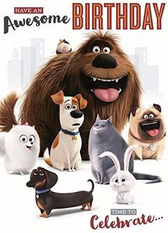 The secret life of pets awesome birthday card The secret ...