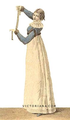 Day dress with blue spencer, 1811