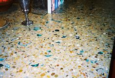 Concretia and Design, recycled glass concrete countertops