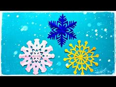 Snowflakes/DIY/How to make snowflakes out of paper/Paper Art and Craft - YouTube How To Make Snowflakes, Paper Snowflakes, All Flowers, Paper Flowers, Vj Art, Christmas Crafts, Christmas Decorations, Snow Flakes Diy, Paper Paper