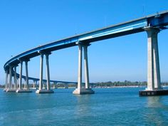 Coronado Bridge in San Diego, CA I've even there!  Kinda scarey!