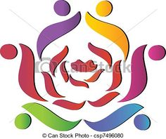 vector teamwork union people logo stock illustration royalty rh pinterest com business card background clipart business card clipart png
