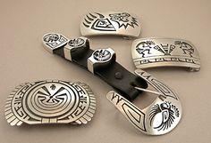 Hopi Overlay Belt Buckles