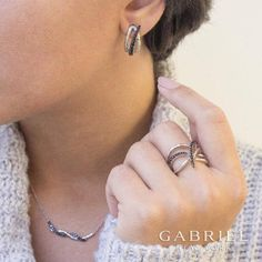 Shop these Beautiful pieces and more by Gabriel & Co. on our website! FREE SHIPPING! Style #LR51211 #EG12996 #NK5646 www.trevifinejewelry.com/gabriel-fashion #GabrielCoRetailer #Gabrielny #GabrielandCo